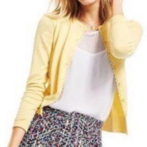 CAbi yellow button down Cardigan sweater